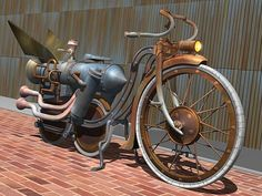 Steampunk bike SUPER COOL ACSESORIE