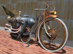 Steampunk bike SUPER COOL ACSESORIE