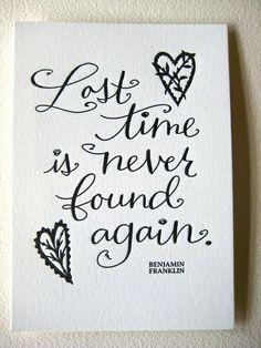 cherish time tattoo | Cherish your Time!