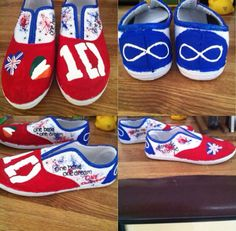 DIY One Direction shoes I made for their concert