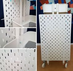 Ikea hack: How to create a mobile pegboard storage unit from the Raskog cart and Skadis pegboard Ikea hack: How to create a mobile pegboard storage unit from the Raskog cart and Skadis pegboard – infectiousstitches Pegboard Ikea, Pegboard Craft Room, Pegboard Storage, Ikea Storage, Craft Room Storage, Kitchen Pegboard, Painted Pegboard, Pegboard Display, Ribbon Storage