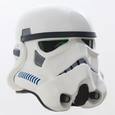 Shepperton Studios Stormtrooper helmet made from original molds by Andrew Ainsworth, from a design by Ralph McQuarrie.