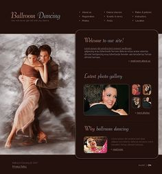 Ballroom Dancing Flash Templates by Delta Flash Templates, Ballroom Dancing, Dance Studio, Website Template, Photo Galleries, Education, Ballroom Dance, Training, Learning