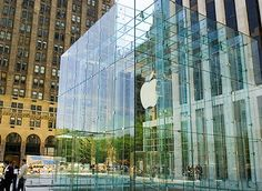 apple store. new york. now famous for the lady who broke her nose on the doors and sued Apple