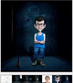 Photoshop Tutorials: Learn how to create a Cartoon Character with photo...