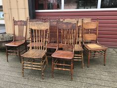Antique press back chairs Dining Tables, Table And Chairs, Modern Cottage, Home Again, Future, Antiques, Shop, Home Decor, Kitchen Dining Tables