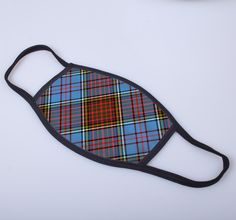 non medical face covering with printed Anderson tartan