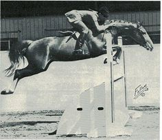 Instant Trouble & Jimmy Kohn at Santa Barbara in 1968. Later sold to Linda Hough. Photo by Fallaw