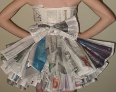 newspaper dress...wheres an abc party when ya need one?