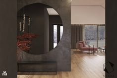 House No. 18 on Behance Interior Architecture, Interior Design, Living Room Interior, Foyer, Oversized Mirror, Sweet Home, New Homes, House, Furniture