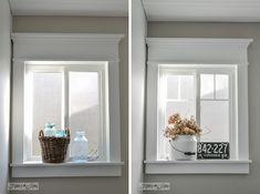 farmhouse window molding cheap diy upgrades
