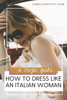 How to dress like an Italian woman. Master the Italian bombshell look and what are the most important aspects of Italian fashion. | Italy fashion and Italian style | #italianfashion #italianstyle #italianwomen Italian Women Quotes, Italian Women Style, Italian Chic, Italian Men, Stylish Outfits, Cute Outfits, Italy Fashion, Fashion Over 40, European Fashion
