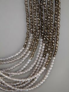 Brunello Cucinelli grey bead necklace