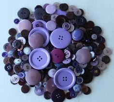 Vintage buttons purple approximately 260 all by purrfectstitchers