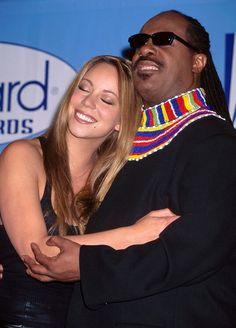 Mariah Carey and Stevie Wonder