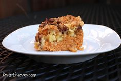 Pumpkin Crunch Cake - from cake mix with condensed milk and pecans