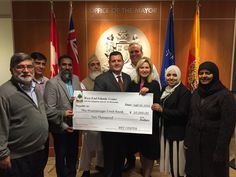 A generous donation from the Islamic Center to West End food bank in Mississaugua has been praised by the city mayor.