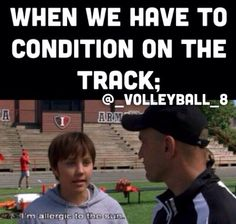 Sorry volleyball players your not the only ones who hate to condition on the track. #cheerleading