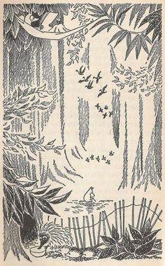 Tove Jansson moomin illustrations