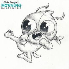 Super secret flying ninja kick! #morningscribbles