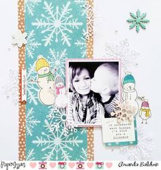 Hello, it's Becky here today and the Paper Issues Design Team is helping me put the spotlight on Crate Paper's Snow & Cocoa line this week! I absolutely love what the girls have created with this lin