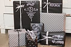 ripaus tunnelmaa: lahjapaketointia ja joulutunnelmointia