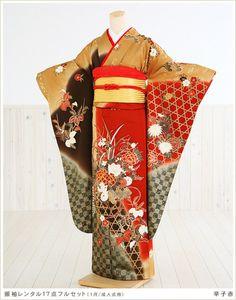 from the floating world Furisode Kimono, Yukata, Japanese New Year, Japanese Things, Ethnic Outfits, Ethnic Clothes, New Years Traditions, Traditional Japanese Kimono, Love Culture