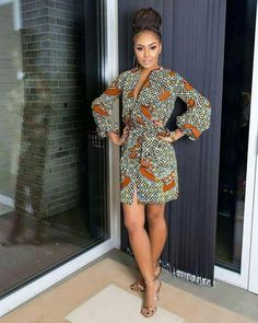 Hello Afro cosmopolitan fashionistas, come in here and take a look at these fine but wonderfully simple ankara styles for women. Sometimes, a very beautiful outfit does not need to take a lot of time to make. Ankara Short Gown Dresses, African Print Dresses, African Fashion Dresses, African Dress, Short Gowns, Nigerian Fashion, African Inspired Fashion, African Print Fashion, Africa Fashion