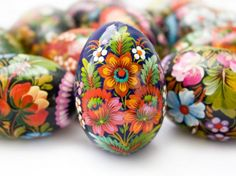 Traditional Easter eggs from Poland