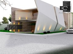 Amazing Architecture: Contemporary design residence by Arq. Sergio Villafuerte Welcome to . Modern Architecture Design, Facade Design, Futuristic Architecture, Facade Architecture, Residential Architecture, Modern House Design, Amazing Architecture, Exterior Design, Contemporary Design