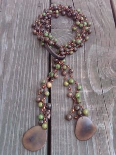 Amazonian Earth Tagua seeds necklace