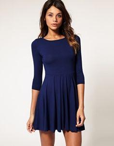 ASOS Dress with Pleated Skater Skirt - StyleSays