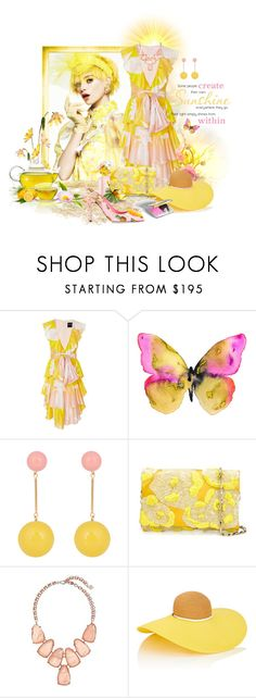 """""""You Are My Sunshine"""" by neverboring ❤ liked on Polyvore featuring GALA, Cynthia Rowley, WALL, Marc, J.W. Anderson, Oscar de la Renta, Kendra Scott, Eugenia Kim and Dolce&Gabbana"""
