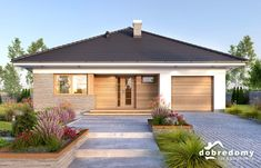 Wooden House Design, Small House Design, My House Plans, Bungalow House Plans, House Design Pictures, Exterior Rendering, Architecture Building Design, Home Design Plans, Hip Roof