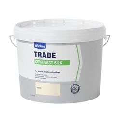 Wickes Contract Silk Emulsion Paint Emulsion Paint Ivory 10L | Wickes.co.uk