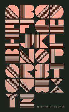 Large block font