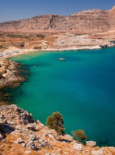 Between sea and mountains in Rhodes, Greece. #travel #sun #greece #landscape