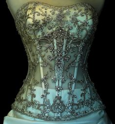 Blinged Out Corset. Sexy Corsets are affordable, durable, fashionable, and… Girly, Victorian Goth, Sexy Corset, White Corset, Lace Corset, Moda Vintage, Krystal, Bridal Dresses, Dance Dresses