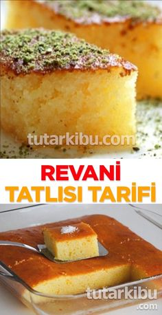Revani Tarifi - Real Time - Diet, Exercise, Fitness, Finance You for Healthy articles ideas Healthy Cake Recipes, Diabetic Recipes, The Cheesecake Factory, Protein Breakfast, Breakfast Recipes, Mini Desserts, Mousse Au Nutella, Recipe Images, Bakewell Cake
