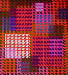 Victor Vasarely was a Hungarian French artist whose work is generally seen as aligned with Op-art. His work entitled Zebra, created by Vasarely in the 1930s, is considered by some to be one of the earliest examples of Op-art. Vasarely died in Paris in 1997.