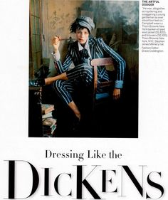 Dressing Like the Dickens: Edie Campbell, photographed by Tim Walker, styled by Grace Coddington: Vogue US December 2013