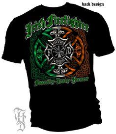 a036dd706d7b Erazor Bits  Irish Firefighter Family Duty Honor T-Shirt