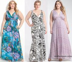 Vestidos plus size moda para gordinhas-longos