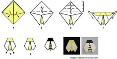 Everybody loves bees and this easy origami bee is no different. This design is similar to the origami ladybug and origami fly. Origami Day, Origami Simple, Origami Star Box, Kids Origami, Origami Paper Art, Origami Fish, Origami Butterfly, Origami Stars, Insects