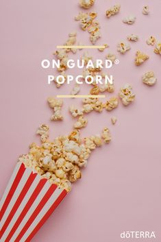 Spiced with the immune-boosting benefits of doTERRA On Guard Protective Blend and Cinnamon Bark oil, this popcorn make a great wintertime snack.