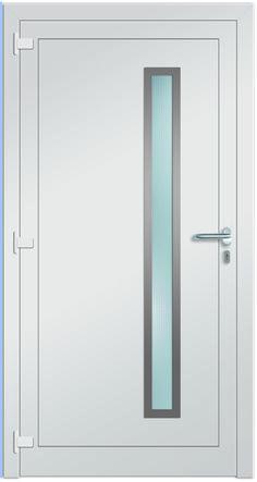 Innenansicht Haustüre Modell Sol - Farbe in RAL 9016 verkehrsweiß. Mit Edelstahl-Ornamentrahmen auf der Innenseite & Türdrücker in Edelstahl. Sternstunden Eingangstüren - jetzt bei Fenster-Schmidinger erhältlich!   #Sternstunden #Türen #Doors