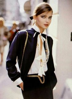 Chanel timeless fashion... Can you believe that this photo was taken in 1982!