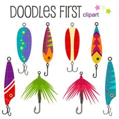 This clipart set includes the 8 x Fishing Lure designs.    Each clipart illustration is included separately as a high resolution PNG file with a transparent background, a JPG with a white background and as as editable SVG file.    Each object is provided at a sizes of 5.5 Inches on its longest side. The PNG makes it versatile to scale for any project.    No watermarks will appear on purchased items.    The purchased clip art that will be provided is much higher quality that what you see in…