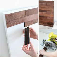 "DIY Ikea hack Stikwood headboard "" let me introduce you to the glory that is Sti. - Ikea DIY - The best IKEA hacks all in one place Ikea Bed Hack, Ikea Malm Hacks, Ikea Mirror Hack, Ikea Hack Bathroom, Ikea Hack Kitchen, Bathroom Wall, Cama Ikea, Diy Casa, Ideias Diy"