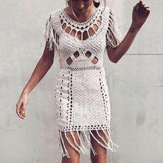 "1,450 Likes, 38 Comments - C L E O B E L L A (@cleobella) on Instagram: ""This little crochet number has us dreaming of summer nights ⠀ ⠀ #AmeiDress #MyCleobella ⠀"""